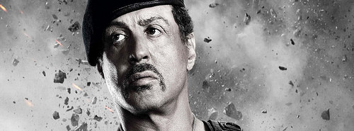 Best HD Sylvester Stallone in expendables 2 facebook cover